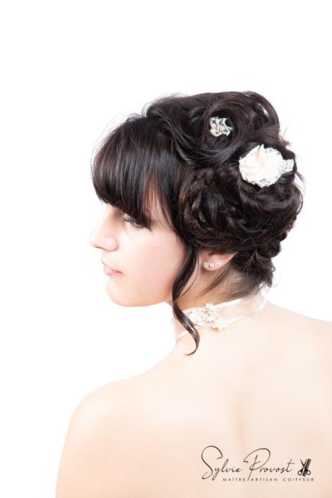Coiffure de mariée cheveux courts
